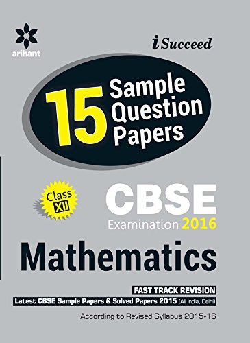CBSE 15 Sample Papers Mathematics for Class 12th Image