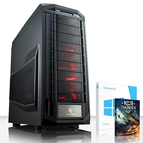 VIBOX Infinity -Turbo 10 - Extreme Gamer, Gaming PC, Desktop PC, USB3 Computer mit WarThunder Spiel Bundle, Windows 8.1 PLUS eine lebenslange Garantie inbegriffen* (Neu 4.4GHz Overclocked Intel, I5 4690K Schnell Quad-Core, Haswell, Prozessor, 2 GB Overclocked AMD Radeon R9270X Grafikkarte, 120GB SSD Solid-State-Laufwerk, Große 2TB Festplatte, Corsair CX750M PSU, Coolermaster R2 120V Wasser CPU Kühler, Z87 SKT1150 Motherboard, Blu -Ray ROM, 32 GB 1600MHz RAM)