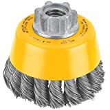 DEWALT DW49152  5-Inch by 5/8-Inch-11 XP .014 Carbon Crimp Wire Cup Brush
