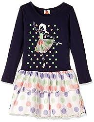 UFO Girls' Dress (AW16-KF-GK-332_Navy_6 - 7 years)
