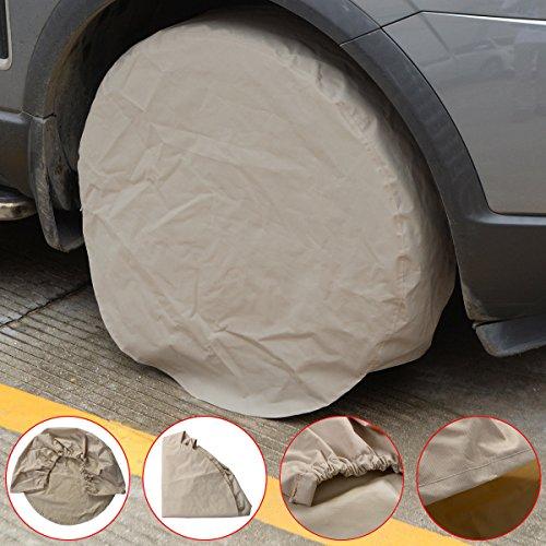 Set of 4 RV Wheel Tire Covers Auto Truck Car Camper Trailer 28