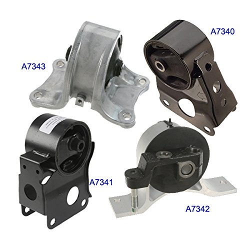 Fits: Engine Motor & Trans. Mount Set 4PCS for 2002-2006 Nissan Altima 2.5L for Auto Transmission (Motor Nissan compare prices)