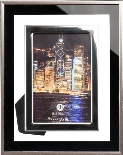 Burnes of Boston Eclipse Picture Frame, 5 by 7-Inch