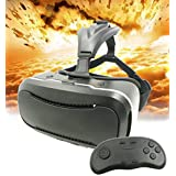 3D VR Glasses + Controller,JDKCOOL 3d Virtual Reality Headset Adjust Cardboard Video Movie Game Box for iPhone 6s/6 plus/6/5s/5c/5 Samsung Galaxy s5/s6/note4/note5 and Other 3.5