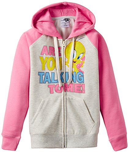 Tweety Tweety Girl's Hooded Top (Multicolor)