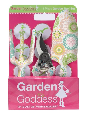 Boston Warehouse Doilies Garden 3-Piece Garden Tool Set
