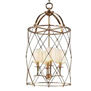Corbett Lighting Argyle Aged Brass Foyer Chandelier