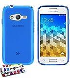 Muzzano Le Glossy Coque souple pour Samsung Galaxy Trend 2 Lite Bleu