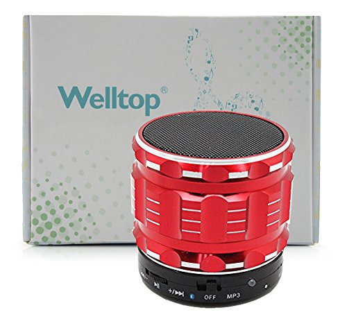 Welltop® New 2014 Portable Mini Bluetooth Speakers Metal Steel Wireless Smart Hands Free Speaker With Fm Radio Support Sd Card For Phone, Fully Support The Apple Series Products (Iapd,Ipad2,New Ipad,Ipad Mini,Iphone4/4S/5), Htc, Sony Ericsson, Nokia And S