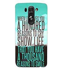 ColourCraft Quote Design Back Case Cover for LG G3 BEAT