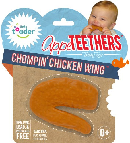 Little Toader Teething Toys, Chompin Chicken Wing - 1