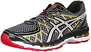 ASICS Men's Gel Kayano 20 Running Shoe,Black/White/Gold,8.5 M US