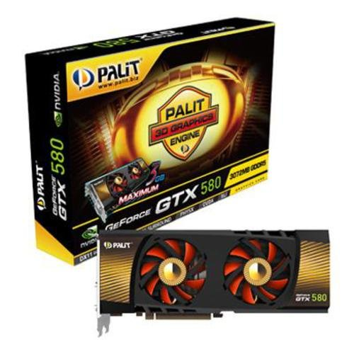 Palit GeForce GTX 580 NVIDIA Graphics Card with 3D Surround Ready (3GB,PCI-E 2.0, GDDR5)