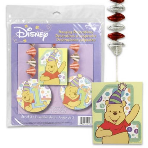 Pooh's 1st Birthday Hanging Decorations