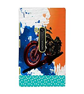 PrintDhaba Bike D-2823 Back Case Cover for NOKIA LUMIA 920 (Multi-Coloured)