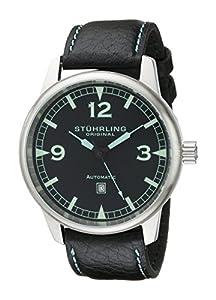 Stuhrling Original Men's 129XL.33151 Aviator Tuskegee Warhawk Automatic Date Black Watch