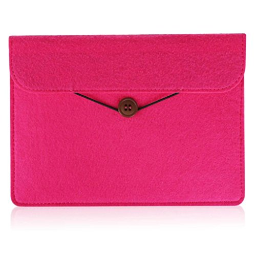 bescita-felt-sleeve-case-for-kindle-oasis-protect-cover-pouch-extra-phone-pocket-hot-pink