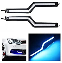 Autosun Daytime Running Lights Cob LED DRL (Blue Zigzag Shape) for Maruti Suzuki - Alto (Old)