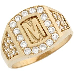 M Letter In Ring Letter M Initial Ring