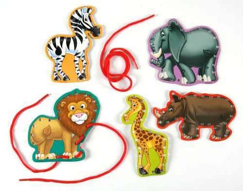 Eureka Lace and Learn Safari Animals Stickers - 1