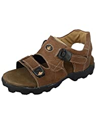 Zohran Men Olive Leather Sandals