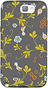 DailyObjects Birds Floral Case For Samsung Galaxy Note 2