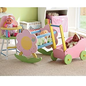 """My Doll Wooden Furniture & Carriage Fits 12""""-15"""" Dolls"""
