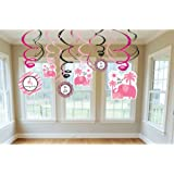 Sweet Safari Girl Swirl Hanging Decorations (3ct)