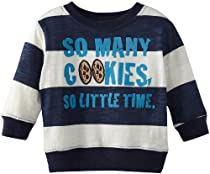 Sesame Street Baby-Boys Infant 1 Piece So Many Cookies So Little Time Pullover, Navy, 12 Months