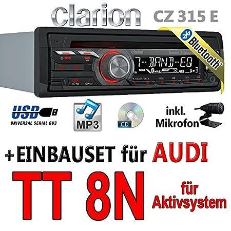 Audi tT 8N pour autoradios clarion cZ315E actif bluetooth avec