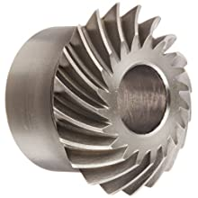 Boston Gear LSA-R Series Spiral Miter Gear, 1:1 Ratio, 20 Degree Pressure Angle, 35 Degree Spiral Angle, Plain Bore, Steel, Right Hand