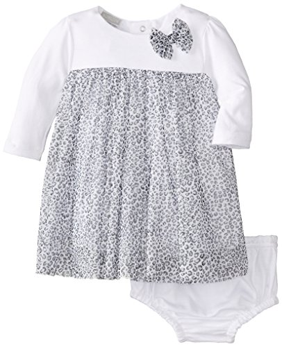 Absorba Baby-Girls Newborn G Black And White Leopard Print Dress With Panty, Printed, 3-6 Months