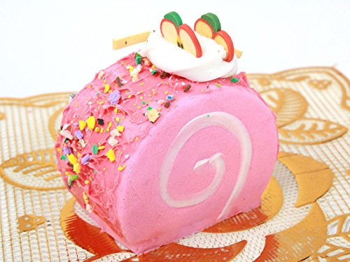 ロールケーキ型 ヘアピン 子ども スイートティーブレイク ピンク