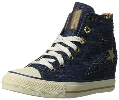 Skechers Women's Daddy's Money Gimme Lone Star Fashion Sneaker,Denim,11 M US