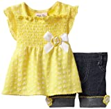 Little Lass Baby-girls Infant 2 Piece Bike Short Set