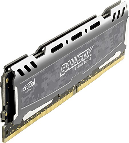Ballistix Sport LT 8GB Single DDR4 2400 MT/s (PC4-19200) DIMM 288-Pin - BLS8G4D240FSB (Gray)