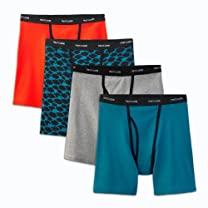 NEW Fruit of the Loom Men's 4pk Ringer Style Boxer Briefs