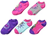 Disney Little Girls'  Frozen 5 Pack Brights No Show Socks
