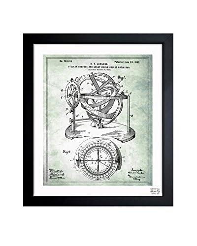 "Oliver Gal ""Stellar Compass 1902"" Framed Art"