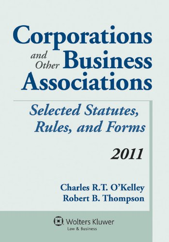 Corporations & Other Business Associations 2011...