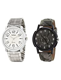 Relish Analog Round Casual Wear Watches For Men Combo - B01ANCDHPO