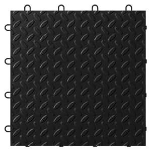 Gladiator GarageWorks GAFT24TTTB Black Floor Tile, 24-Pack