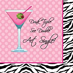 Sassy & Sweet Bachelorette Act Single 3-Ply Beverage Napkins - Bachelorette Party Supplies