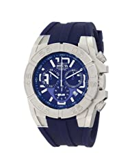 Invicta Men's 1610BBB Specialty Chronograph Blue Dial Blue Polyurethane Watch