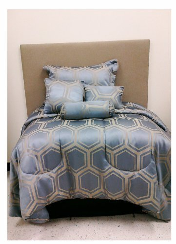 Spring Collection - Hexy 7pcs Bedding Set - Queen size Bed In A Bag