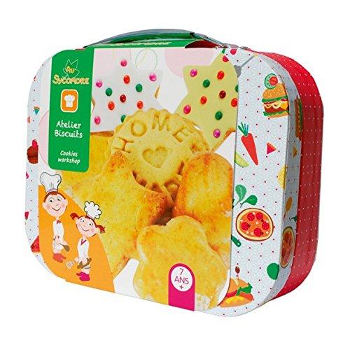 Sycomore CRE9030 - Loisirs Créatifs - Atelier de Cuisine pour Enfants, avec Accessoires et Recettes - Biscuits