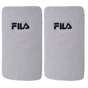 Buy Fila Unisex Cotton Sweatbands Wristbands - Single Pair - White - AC00686 - NS by Fila