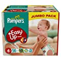 Pampers Easy Ups Size 4 (Maxi) Jumbo Pack 56 Nappies