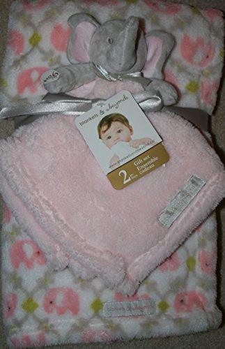 Elephant Blanket & Pink Elephant Lovie ~ Baby Gift Set Security Blankets