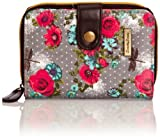 SWANKYSWANS Girls Hayley Dragonfly and Rose Print Small Wallet SW748-L1 Grey